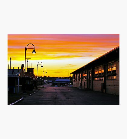 Twilight at the Fairgrounds Photographic Print