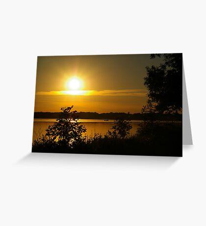 Onondaga Lake Sunset Greeting Card