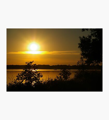 Onondaga Lake Sunset Photographic Print