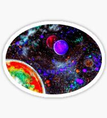Super Intense Galaxy Sticker