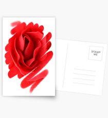 Flower Art Work Postcards