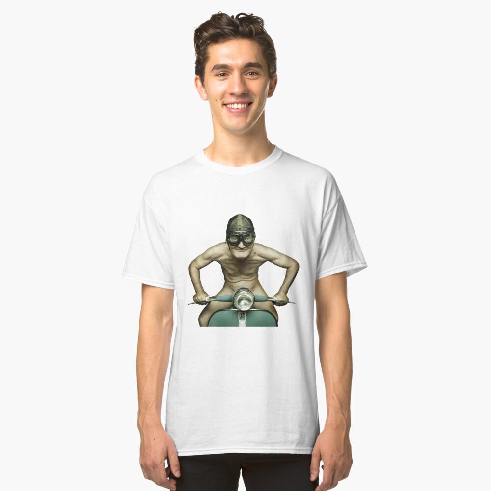 Scooter Man Shirt 2 Classic T-Shirt Front