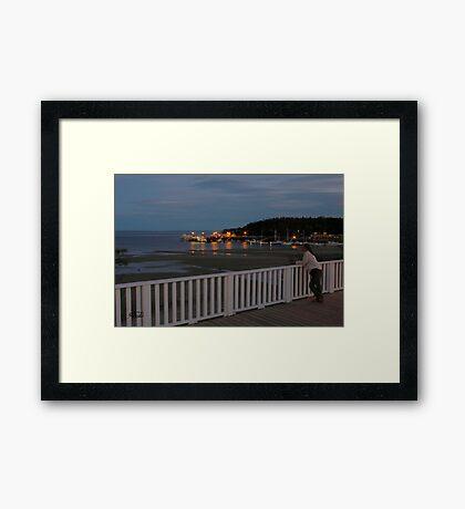 Bayview at Tadoussac Framed Print