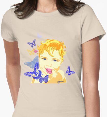 Cute Baby with Dark Blue Eyes T-Shirt