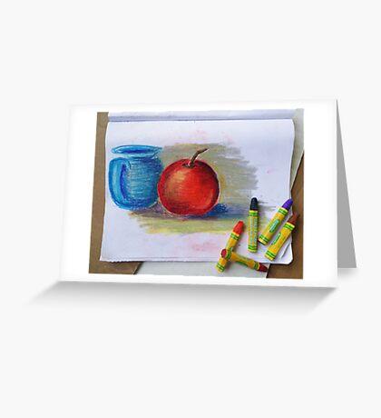 Petit Exercice En Pastel L'huile Greeting Card