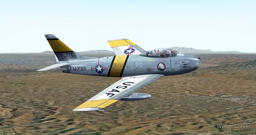 F-86 Sabre Jet by Walter Colvin