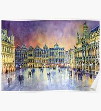 Belgium Brussel Grand Place Grote Markt Poster