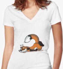 Dead Fox Women's Fitted V-Neck T-Shirt