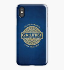 Gallifrey - No Gods or Kings, only Timelords iPhone Case iPhone Case