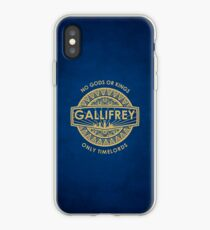 Vinilo o funda para iPhone Gallifrey - No Gods or Kings, solo Timelords funda iPhone
