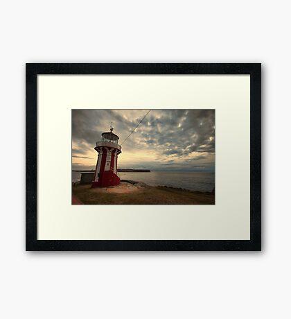 Leaning Lighthouse of Sydney Framed Print