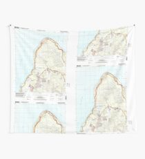 USGS TOPO Map Guam Ritidian Point 462403 2000 24000 Wall Tapestry