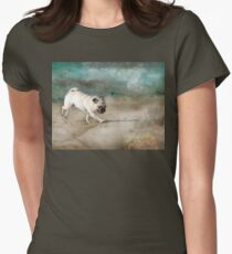 When Pugs Fly Womens Fitted T-Shirt