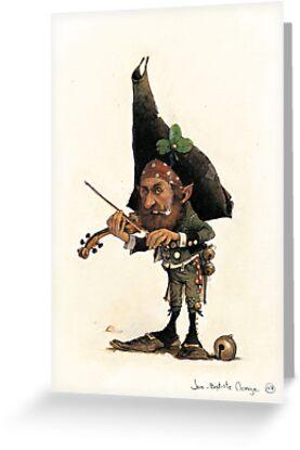 The boring Violonist by JBMonge