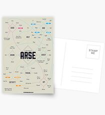 A taxonomy of arse Postcards