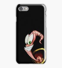 Funny gaming worm iPhone Case/Skin