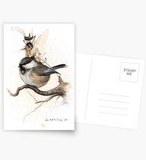The Sulky Faery on the Chickadee Postcards