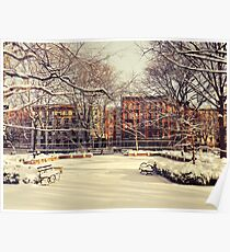 Winter - East Village - New York City Poster