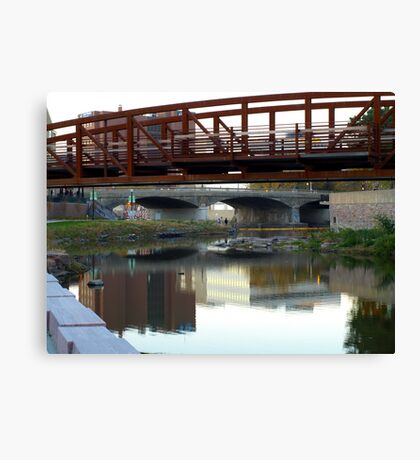 Reflections of a Skyline Canvas Print