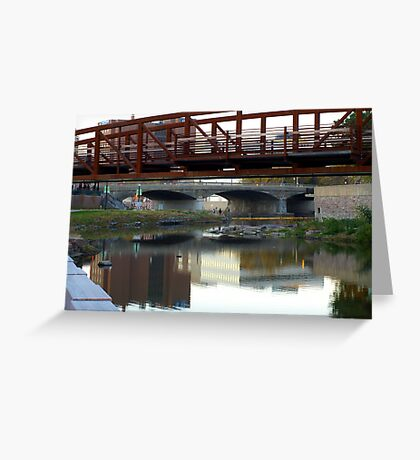 Reflections of a Skyline Greeting Card