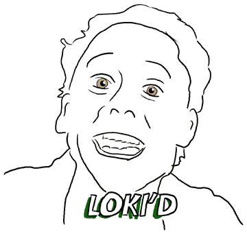 Loki'd Redraw Sticker Weird thing by foxorchid