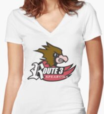 Route 3 Spearows Women's Fitted V-Neck T-Shirt