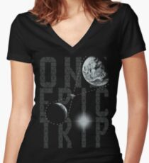 One Epic Trip Women's Fitted V-Neck T-Shirt