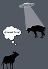 Banksy Style Cow Abduction  by Creative Spectator