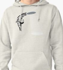 Banksy Style Dog Catching Frisbee (flying saucer) Pullover Hoodie
