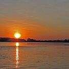 Sunset on the Ord River, Kimberley, Western Australia by Margaret  Hyde