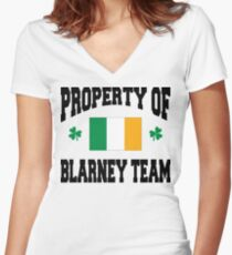 Blarney Women's Fitted V-Neck T-Shirt