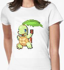Pokemon and YuGiOh combined into a sprite Womens Fitted T-Shirt