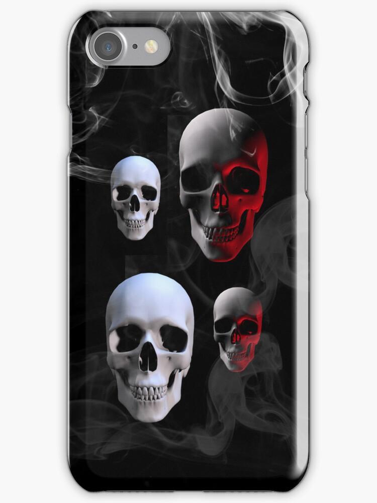 Skulls iphone case by Elaine  Manley