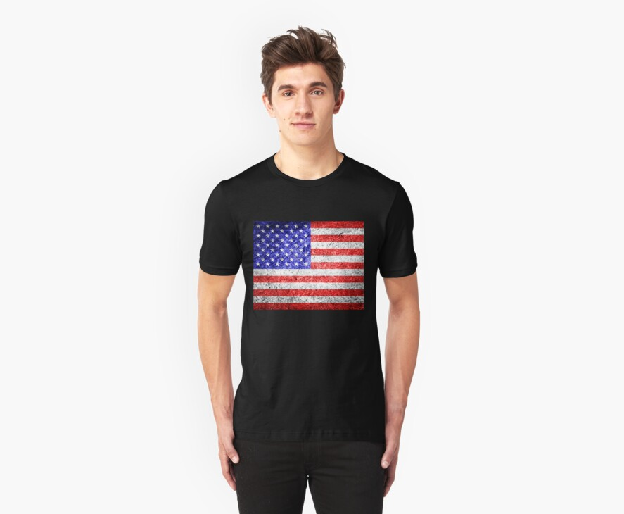 American Flag Grunge  by Nhan Ngo