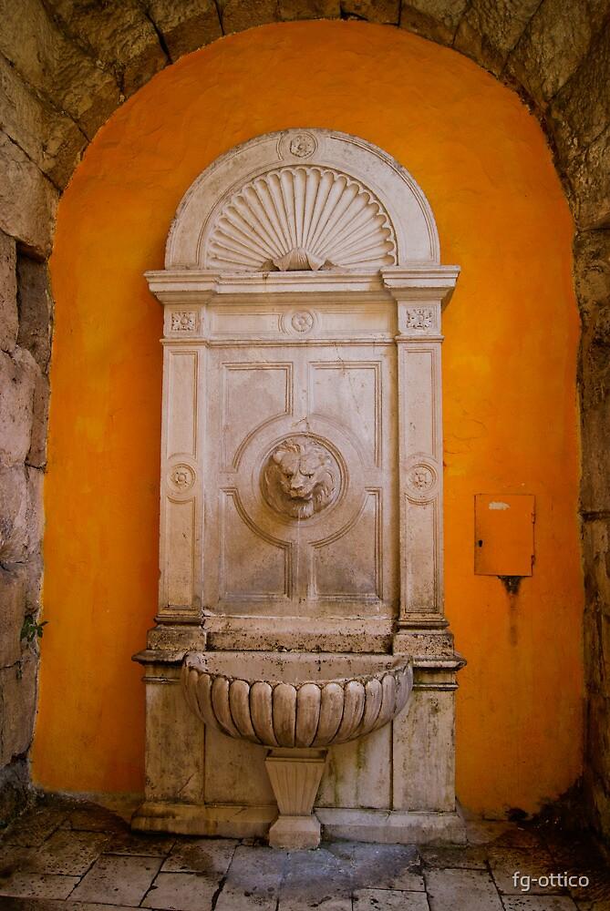 Lion's Head Marble Fountain, Split, Croatia by fg-ottico