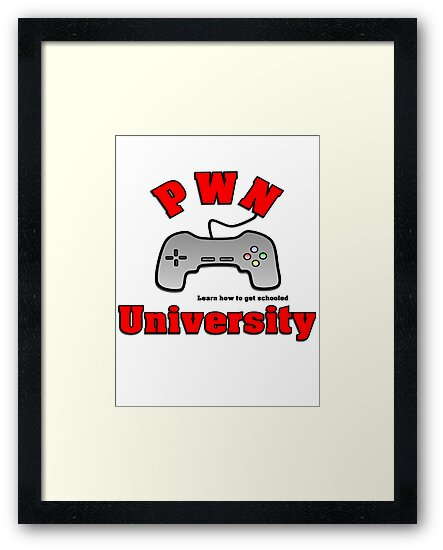 PWN University Gamer gear by jenwhite2012