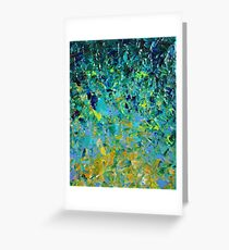 BEAUTY BENEATH THE SURFACE - Stunning Lake Ocean River Water Nature Green Blue Teal Yellow Aqua Abstract Grußkarte