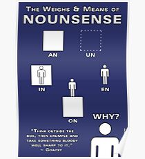 The Weighs & Means of Nounsense Poster