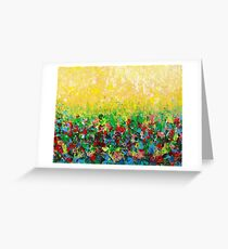 NATURE'S LIVING ROOM - Gorgeous Bright Bold Nature Wildflower Field Landscape Abstract Art  Greeting Card