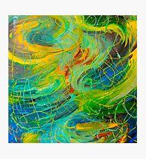 NAUTICAL GALAXY - Beautiful Aquatic Blue Green Ocean Universe Abstract Painting Gift Decor Photographic Print