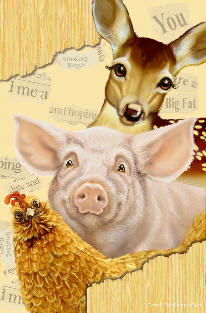 Farmyard Politics by Carol McLean-Carr