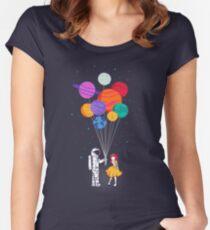 Für dich alles Tailliertes Rundhals-Shirt