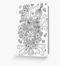 Abundies Flower Doodles Greeting Card
