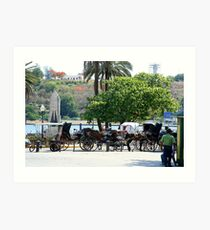 Cuban carriages Art Print