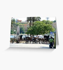 Cuban carriages Greeting Card