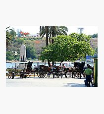 Cuban carriages Photographic Print
