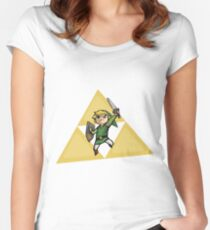 Link with Triforce Women's Fitted Scoop T-Shirt