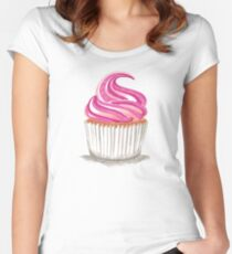 Pink Cupcake Women's Fitted Scoop T-Shirt