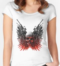 Expendables Crest Women's Fitted Scoop T-Shirt