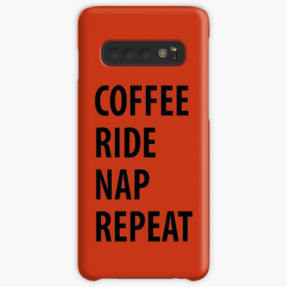 Coffee Ride Nap wiederholen Hülle & Klebefolie für Samsung Galaxy